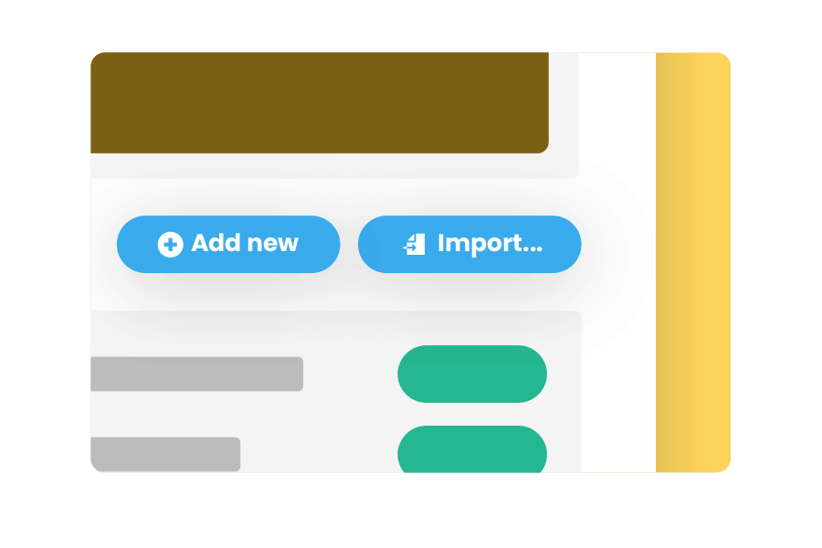 import your existing reviews quickly and easily