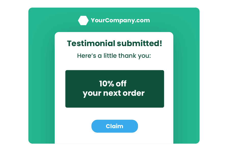 use incentives to get testimonials