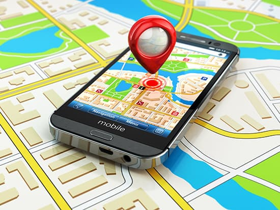 mobile phone business search map