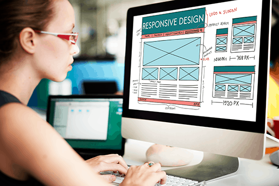 woman website designer